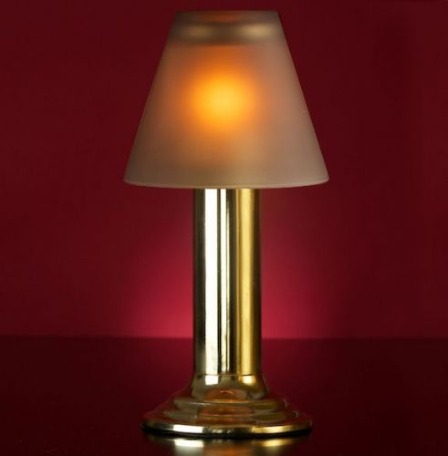 Gold Lamp Stand With Grey Glass Shade